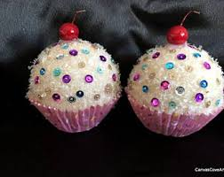 cupcake ornaments etsy