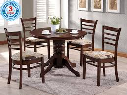 Kitchen Furniture Online India by Buy Finlam Round Dining Table With Chairs Online In Bangalore India