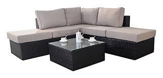 Rattan Garden Furniture Sofa Sets Port Royal Luxe Rattan Garden Furniture Corner Sofa Set U2013 Brown