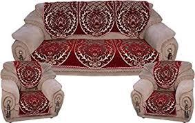Velvet Sofa Set Buy Fresh From Loom 500 Tc Polycotton Velvet Sofa Cover Set Of 5