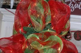 deco mesh ribbon fancy christmas tree deco mesh tutorial fancy