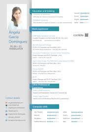 Resume In English Cv English Coinfetti Co