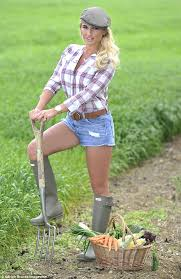 the gray lady reinvents itself billie faiers reinvents herself as a sexy farmgirl in plaid shirt