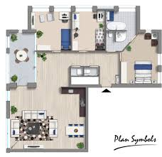 Furniture Floor Plans 2d Floor Plan Made With The Modern Furniture Add On Plan Symbols