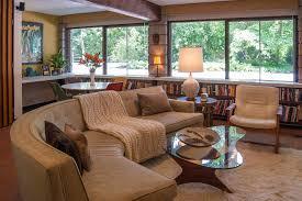 Long Low Bookshelf Philadelphia Long Low Bookcase Living Room Midcentury With Window