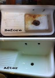 A Fifty Dollar Craigslist Farmhousestyle Cast Iron Enamel Sink - Enamel kitchen sink