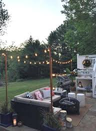light pole home depot light hanging pole poles for outdoor globe string lights on the deck