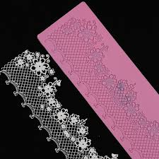 edible lace large silicone mould sugar lace mat easy release edible