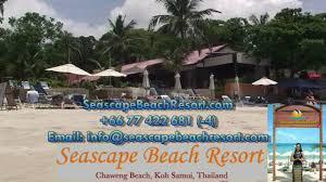 seascape beach resort chaweng beach koh samui youtube