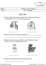 primaryleap co uk old or new worksheet