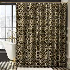 Black Gold Curtains Black And Gold Quatrefoil Pattern Diy Color Shower Curtain
