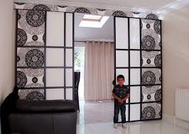 Panel Curtain Room Divider by Room Planner Tri Fold Screen Room Divider Short Room Dividers