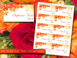 diy wedding place cards template watercolor fall