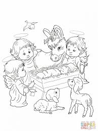 precious moments nativity coloring pages manger scene coloring pages our christmas crib jesus the baby in