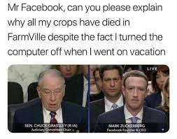 On Vacation Meme - mr facebook can you please explain why all my crops have died in