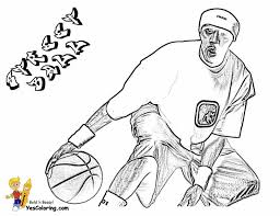 nba players coloring pages 18 best bouncy basketball coloring pages images on pinterest