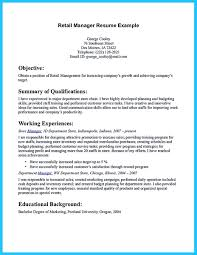 assistant store manager resume clothing store manager resume best