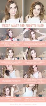 how to get beachy waves on shoulder lenght hair messy waves for short or medium length hair tutorial wonder