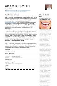 dental resume template cv for dentist sle dtk templates