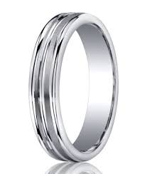 silver wedding bands mens designer silver satin wedding band 3 polished edges