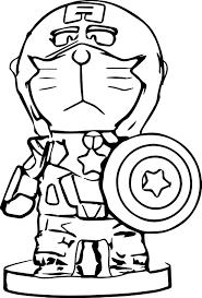 doraemon cosplay captain america coloring 4151