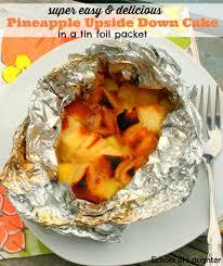 easy pineapple upside down cake in foil packet pineapple upside