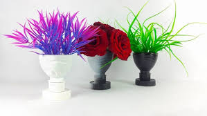 Simple Flower Vase - how to make a flower vase out of plastic bottle simple craft ideas