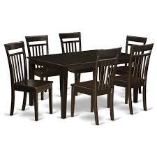 6 Dining Room Chairs East West Furniture Vancouver 7 Piece 76x40 Oval Dining 7 Pc Oval