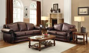Leather Brown Sofas Brown Leather Sofa With Impressive Interior Layout Traba Homes