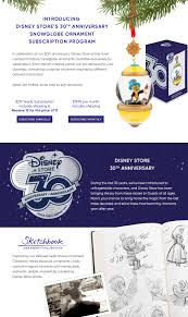 disney store 30th anniversary sketchbook ornament subscriptions