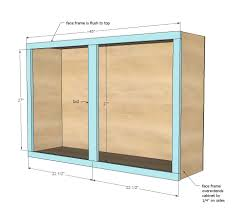 Diy Kitchen Cabinet Plans White Build A 45 Wall Kitchen Cabinet Free And Easy Diy