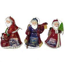 kinkade world santas collection family