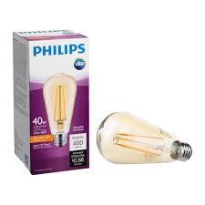 philips led st19 warm glow dimmable 400 lumen 2000 kelvin 5 5
