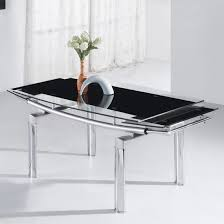 Black Glass Extending Dining Table Glass Extendable Dining Table Satuska Info