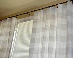 Navy Buffalo Check Curtains Pair Of Buffalo Check Curtain Panels Anderson Black And