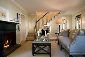 Living Room With Stairs Design Living Room Traditional Living Room Atlanta By Frederick