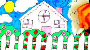 drawing home drawing home sweet home coloring video for kids youtube