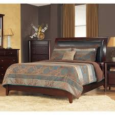 King Size Leather Sleigh Bed Padded Synthetic Leather Queen Size Sleigh Bed Free Shipping