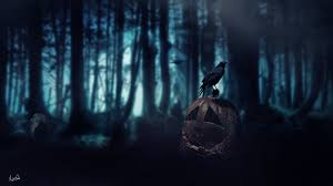 halloween dark background halloween pumpkin dark age crow forest death wallpapers hd