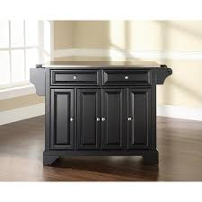 kitchen island with stainless steel top crosley kf30002bbk lafayette stainless steel top kitchen island in
