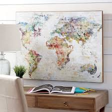 BBLQN Ideal World Map Wall Decor Wall Art and Wall Decoration Ideas