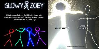 glowy zoey the original led stick figure costumes