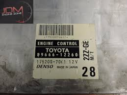 toyota corolla runx 2000 2005 manual engine control unit ecu 89666