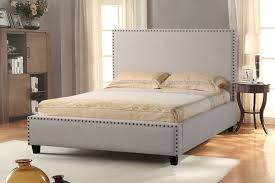 jolla california king bed with nail head accent by diamond sofa