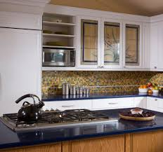 kitchen cabinets with glass doors cabinet backsplash