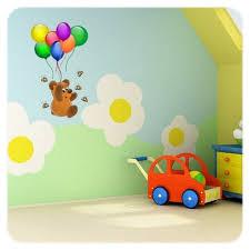 stickers repositionnables chambre bébé sticker bébé ourson et ballons un autocollant adhésif pour