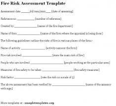 assessment templates fire risk assessment template 300x274 jpg
