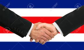 Flag Costa Rica The Costa Rica Flag And Business Handshake Stock Photo Picture