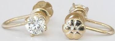 non pierced earrings 1 0 ctw diamond stud earrings for non pierced ears in 14k yellow