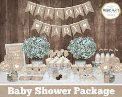 babyshower decorations burlap baby shower etsy